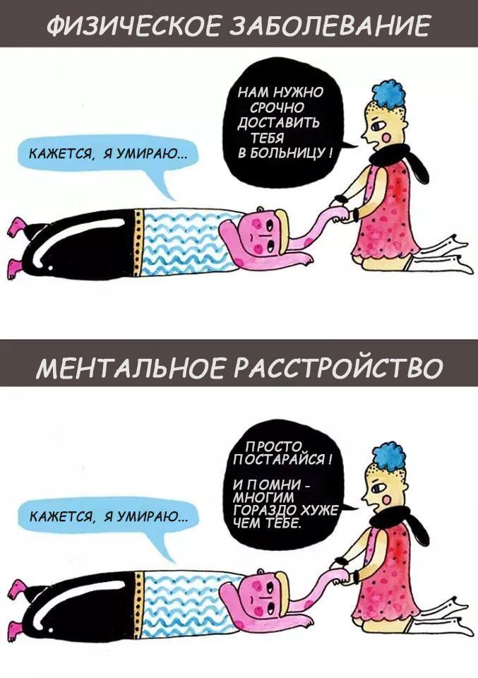 Разница между физическим расстройством и депрессией
